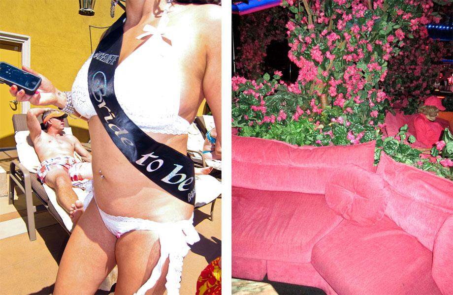 """Left: Bride to Be from """"Vegas,"""" 2013. Right: Pink Lady from """"Vegas"""" 2012."""