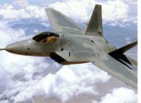 An F-22 Raptor 4001 stealth fighter. Click image to expand.