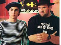 Max Minghella as Jerome and Ethan Suplee as Vince in Art School Confidential. Click image to expand.