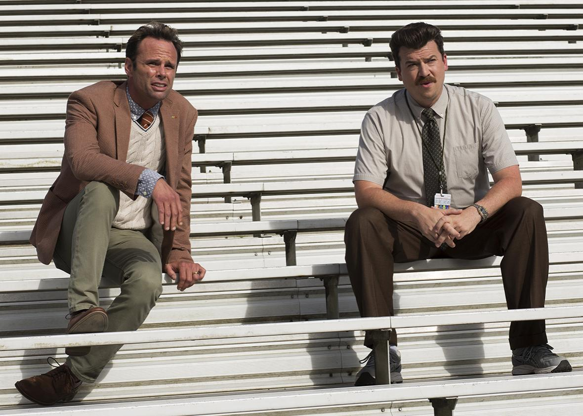 Walton Goggins and Danny McBride in Vice Principals.