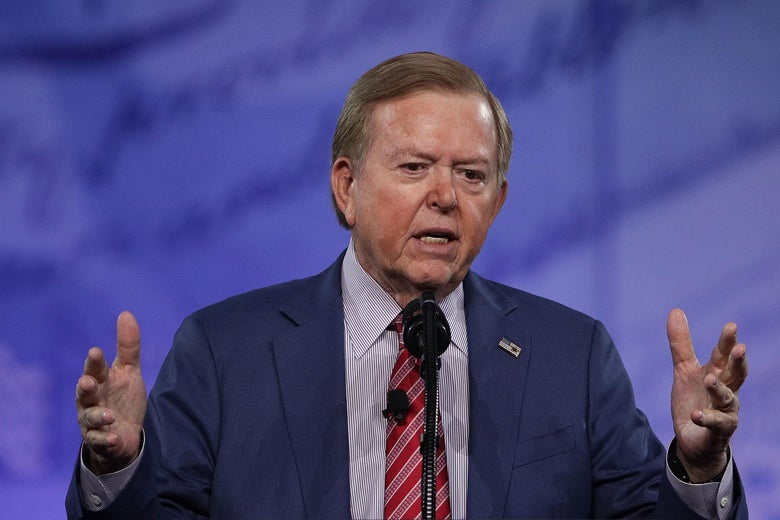 Lou Dobbs of Fox Business Network speaks during the Conservative Political Action Conference at the Gaylord National Resort and Convention Center February 24, 2017 in National Harbor, Maryland.
