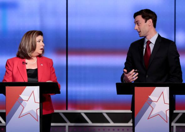 Karen Handel and Democratic candidate Jon Ossoff