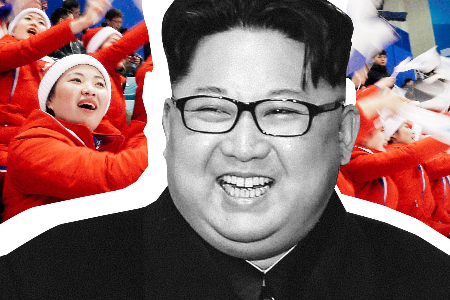 Kim Jong Un, North Korean Cheerleaders at the 2018 Winter Olympics.