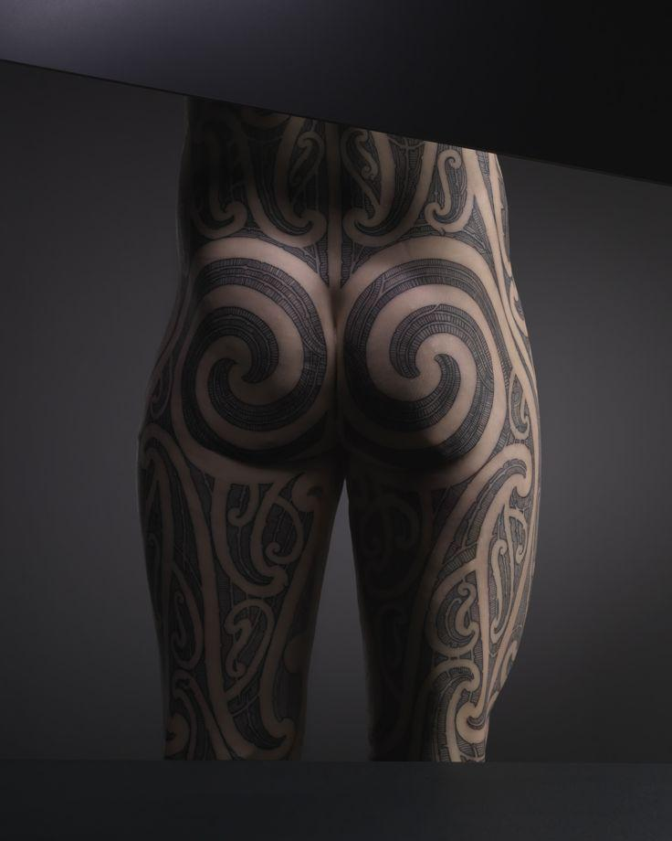 Tattoo designed by Mark Kopua on a silicone model of a man's backside, 2013.