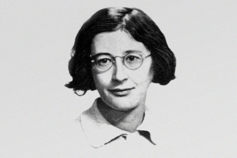 Black and white portrait of Simone Weil