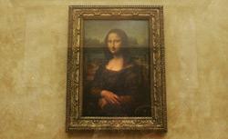 The famous Leonardo Da Vinci painting ' The Mona Lisa.' Click image to expand.