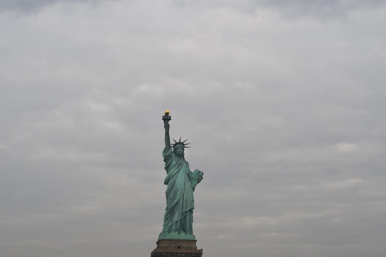 The Statue of Liberty on Jan. 22 in New York.