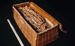 A khipu maker's work box, Inca era. Click image to expand.