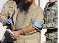 A detainee in Guantanamo Bay. Click image to expand.