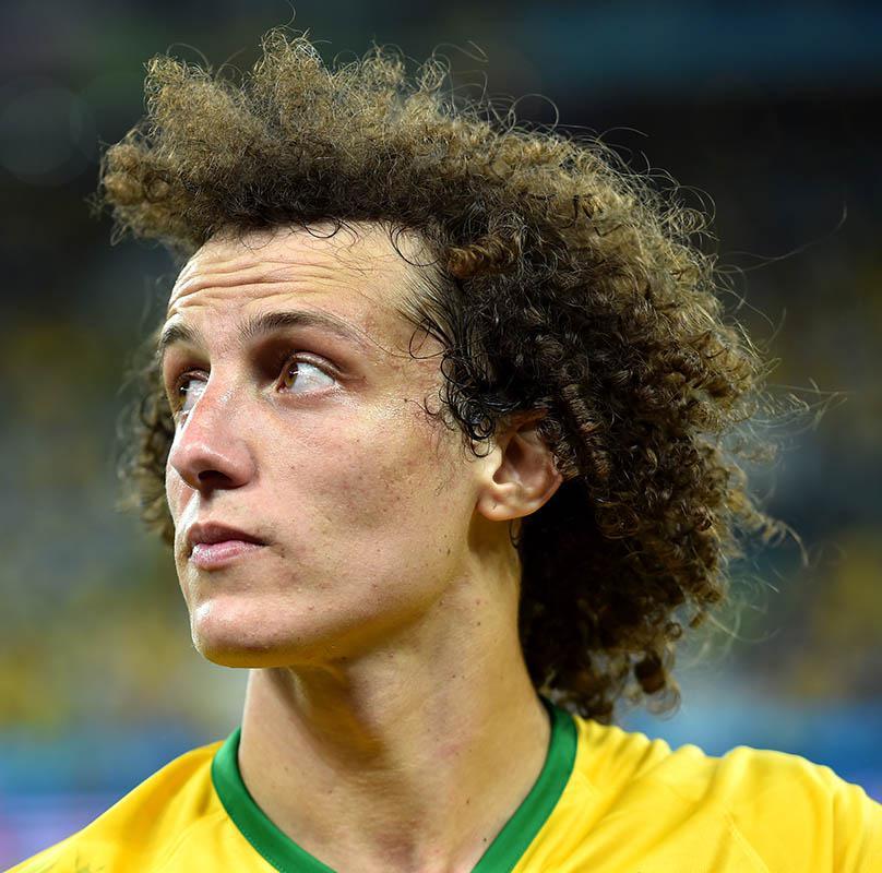 David Luiz of Brazil after the 2014 FIFA World Cup Brazil.