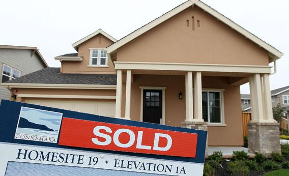 Sales of new homes surged nearly 27 percent in March, the largest single-month increase in 47 years