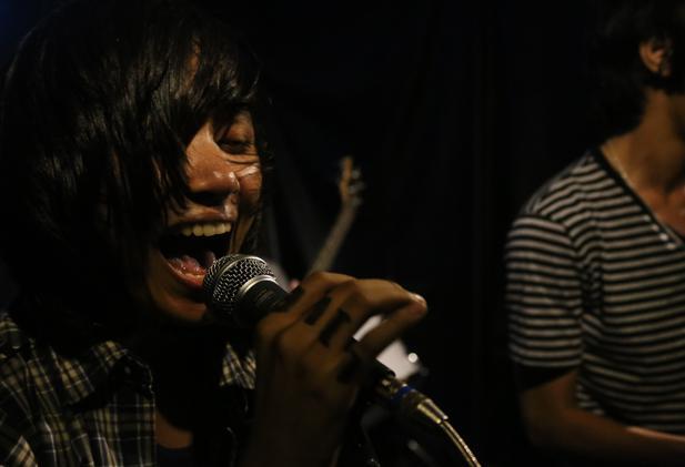 Cambodian punk band No Forever playing at Phnom Penh's Showbox.