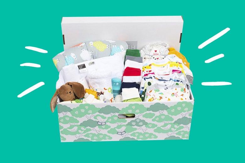 A baby box.