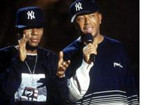 Def Poetry's smooth host (Mos Def) and benefactor (Russell Simmons)