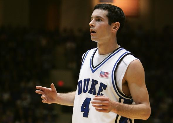 J.J. Redick #4 of the Duke University Blue Devils
