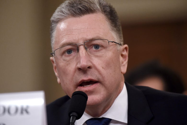 Kurt Volker testifying on Tuesday in Washington.