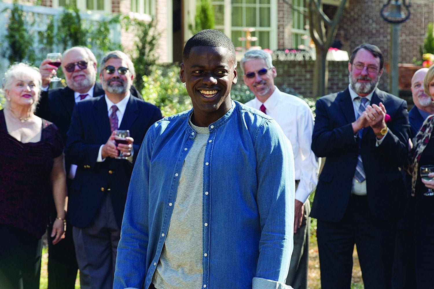 "Daniel Kaluuya as Chris, and as ""Chris,"" in Get Out."