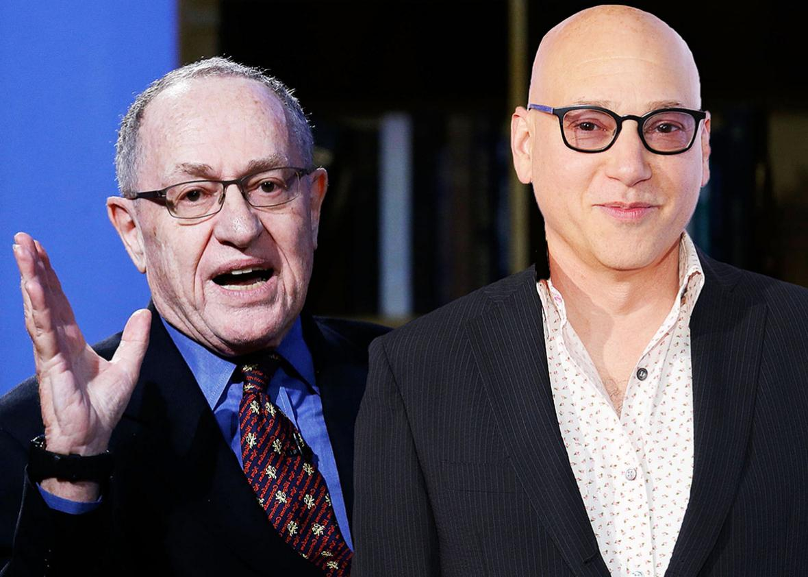 Alan Dershowitz and Evan Handler.