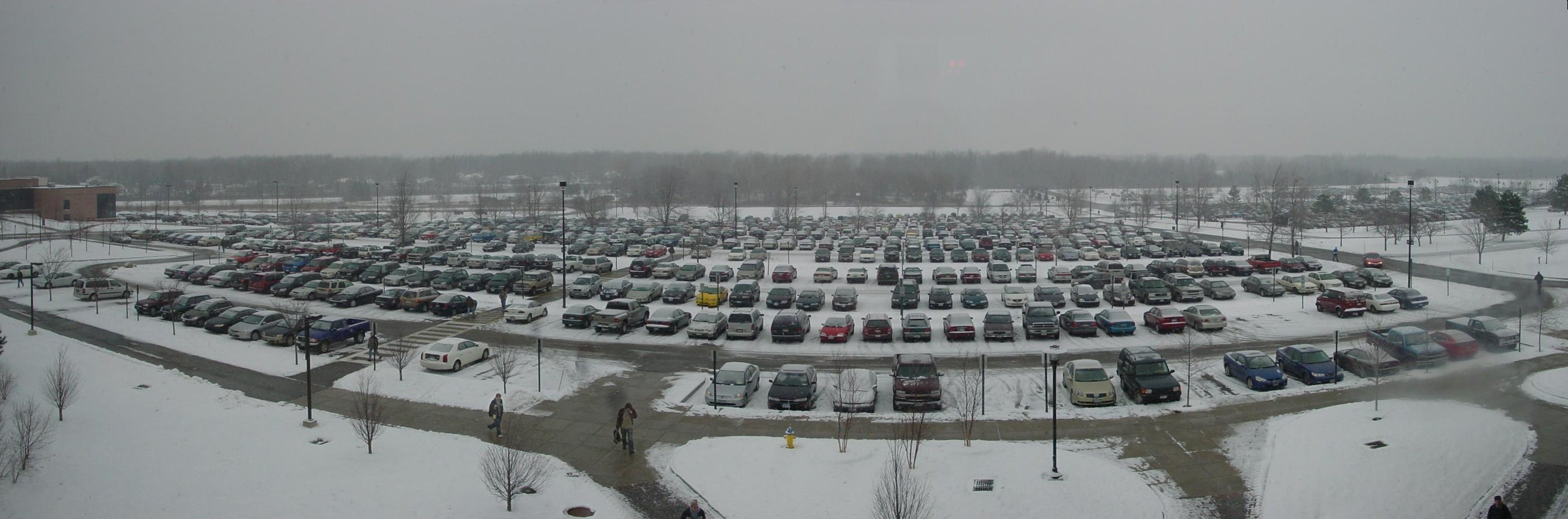 A parking lot in Rochester, New York.