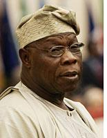 Nigerian President Olusegun Obasanjo. Click image to expand.