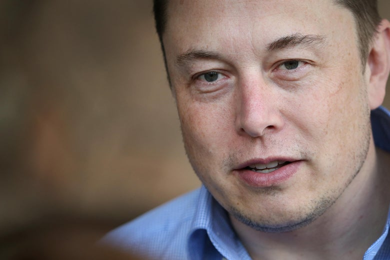 A close-up of Elon Musk.