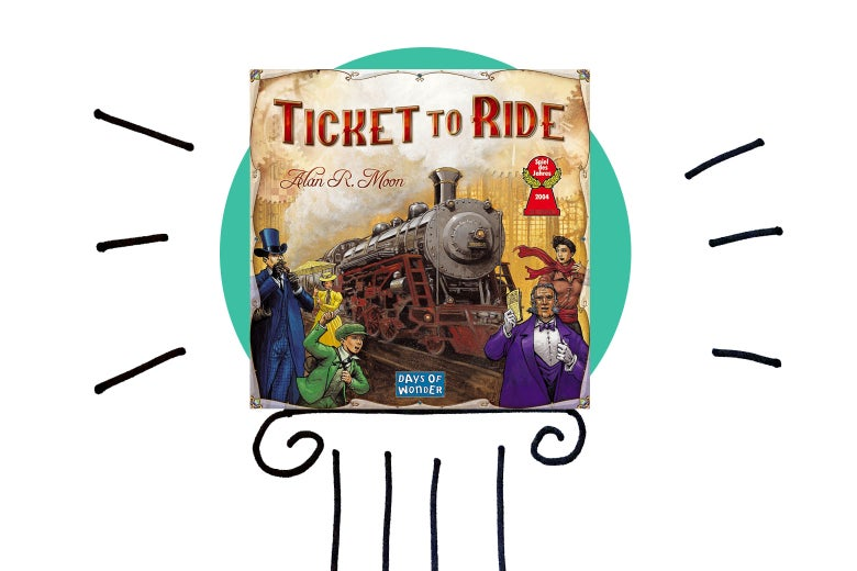 Ticket to Ride on a pedestal.