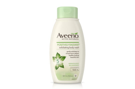 Aveeno Positively Radiant Exfoliating Body Wash.