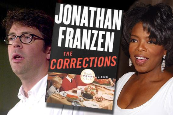 Jonathan Franzen and Oprah Winfrey, early 2000s