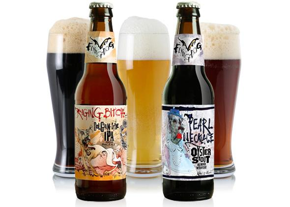2596c49381526 Flying Dog's Raging Bitch Belgian-Style IPA and Pearl Necklace Oyster Stout
