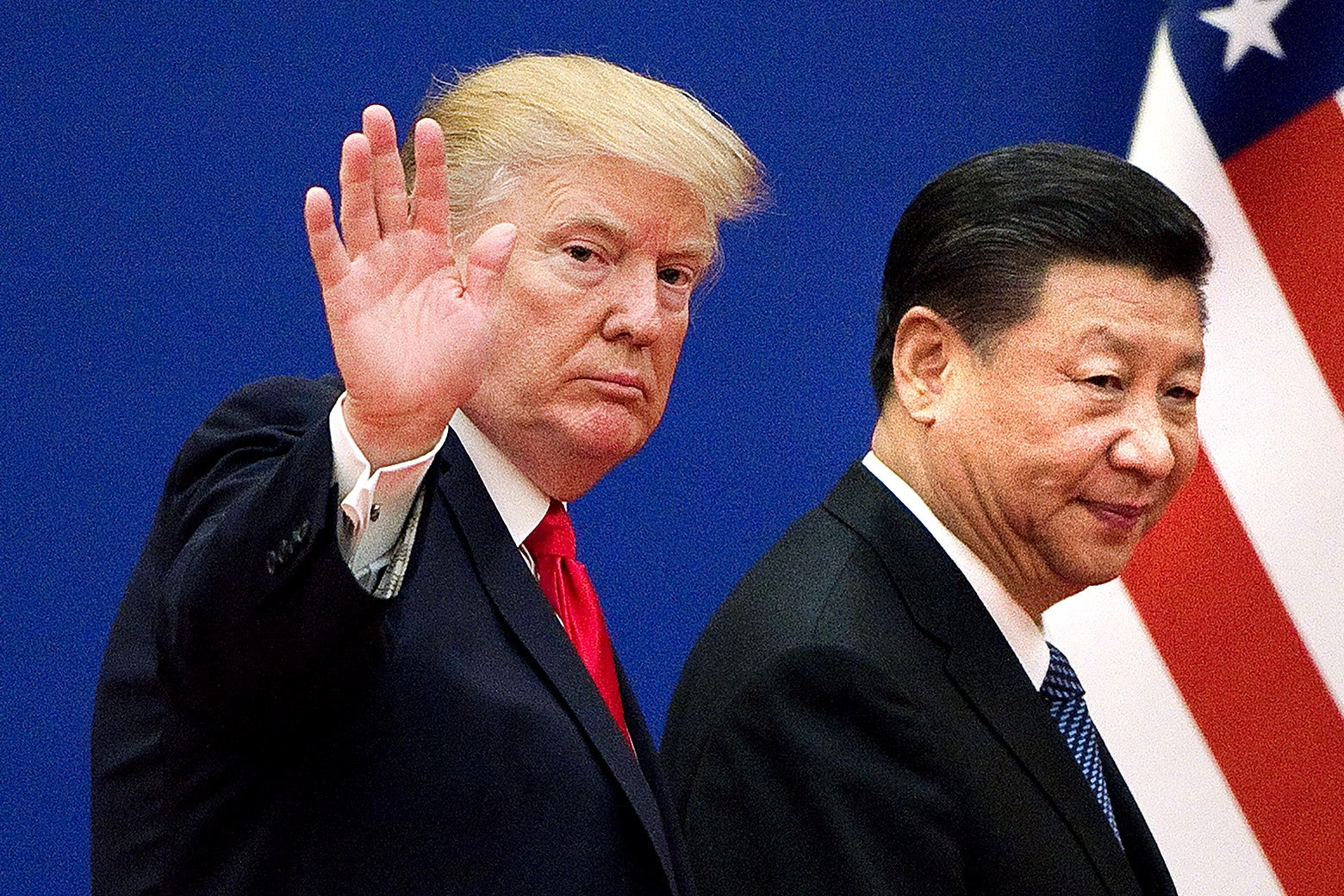 U.S. President Donald Trump and China's President Xi Jinping.