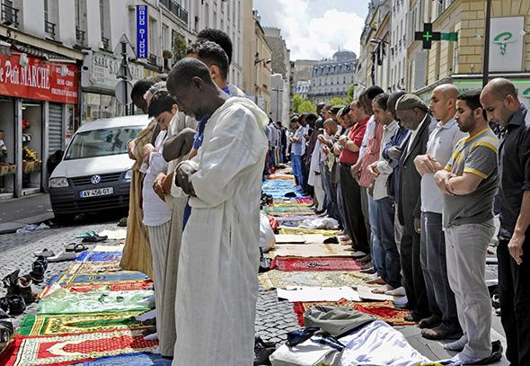 Paris, France: Rue des Poissonniers Friday Prayer