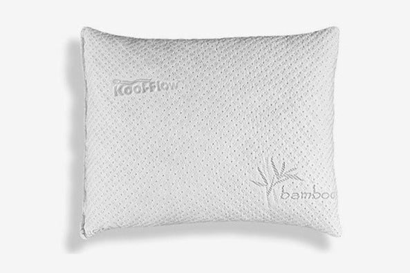 Xtreme Comforts Slim Hypoallergenic Shredded-Memory-Foam Standard Bamboo Pillow With Cove