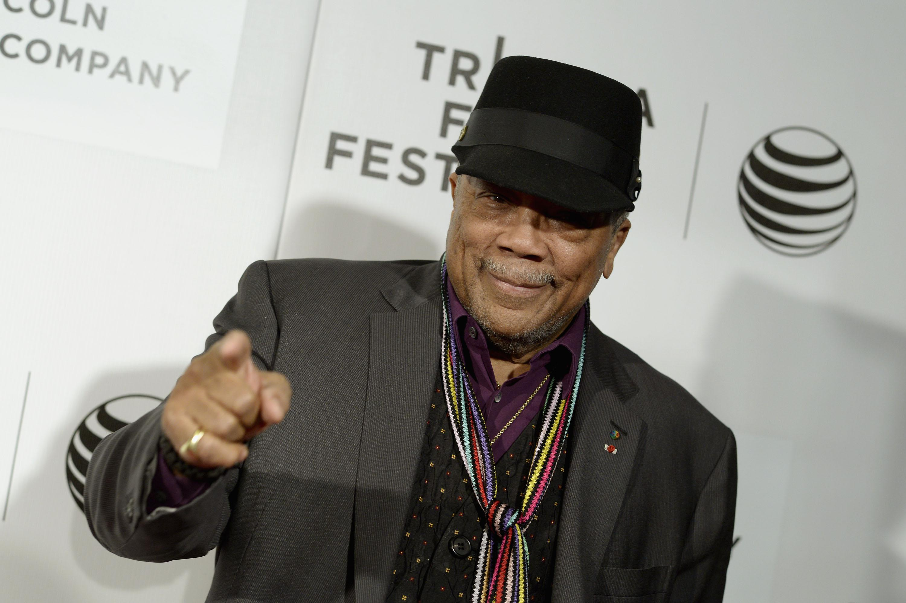 NEW YORK, NY - APRIL 19:  Producer Quincey Jones attends the 'Keep on Keepin' On' Premiere during the 2014 Tribeca Film Festival at BMCC Tribeca PAC on April 19, 2014 in New York City.  (Photo by Dave Kotinsky/Getty Images for the 2014 Tribeca Film Festival)