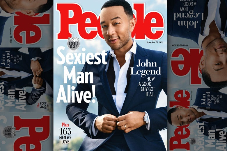 John Legend as Sexiest Man Alive on the cover of People magazine.