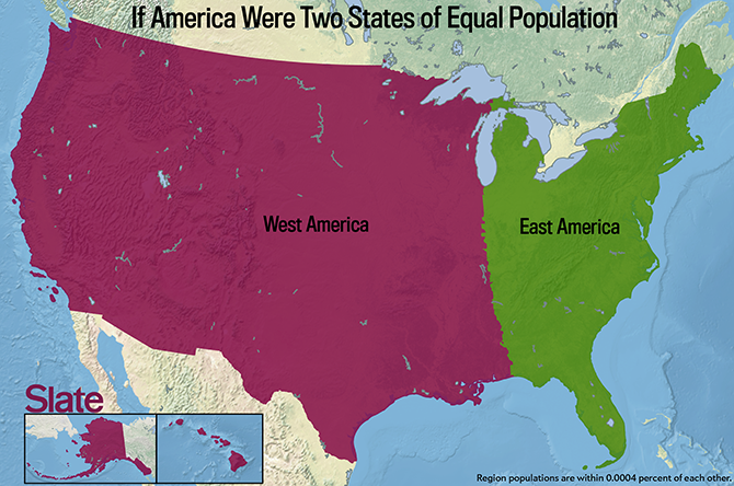 If Every U S State Had The Same Population What Would The Map Of
