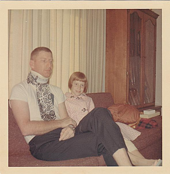 My uncle David at home after being shot down, 1966