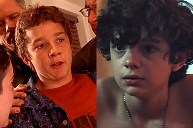 Shia LaBeouf in Even Stevens and Noah Jupe in Honey Boy.
