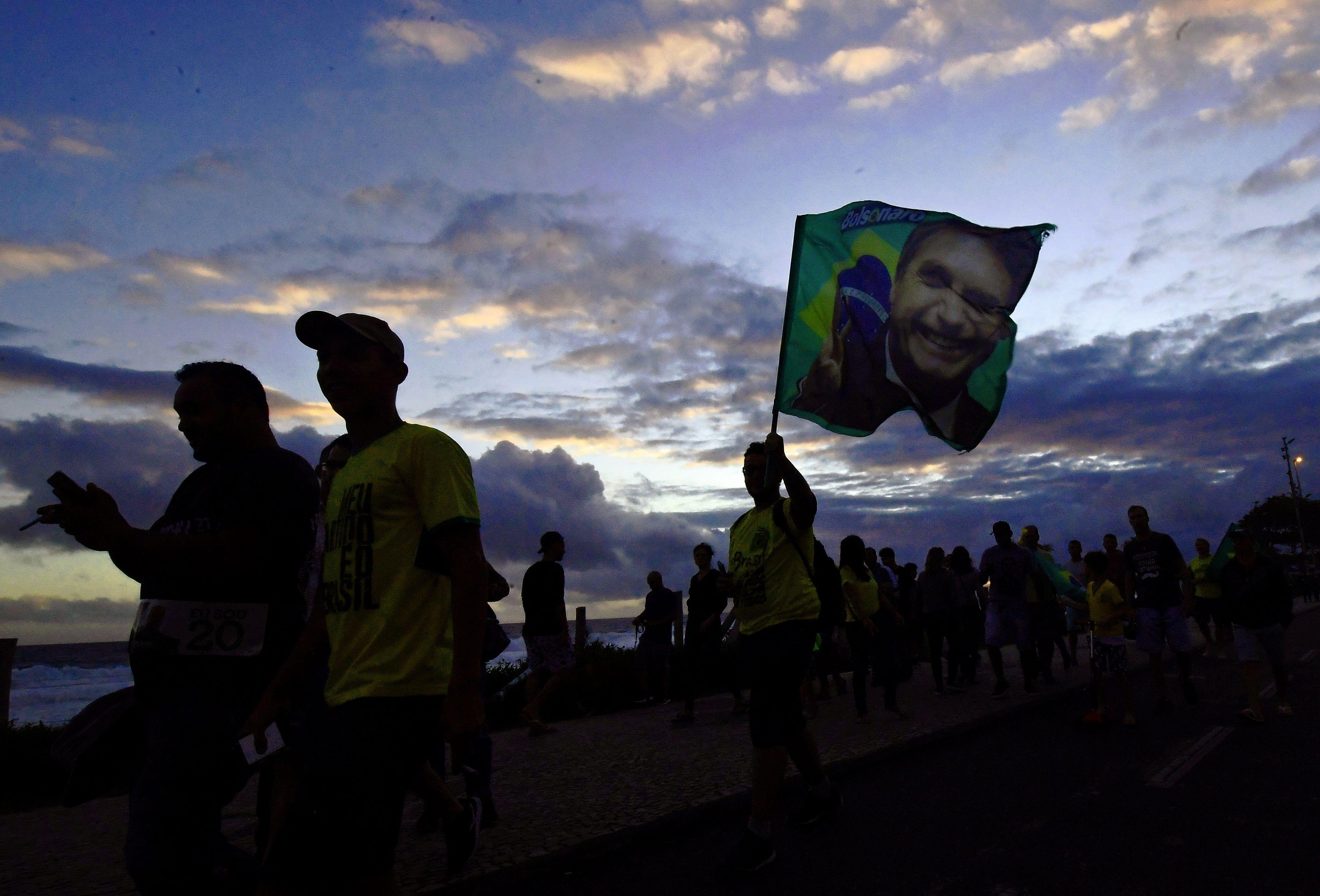 Supporters of Jair Bolsonaro