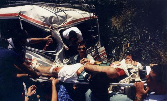 May 16, 1990. Highway 1, just outside Jerusalem.