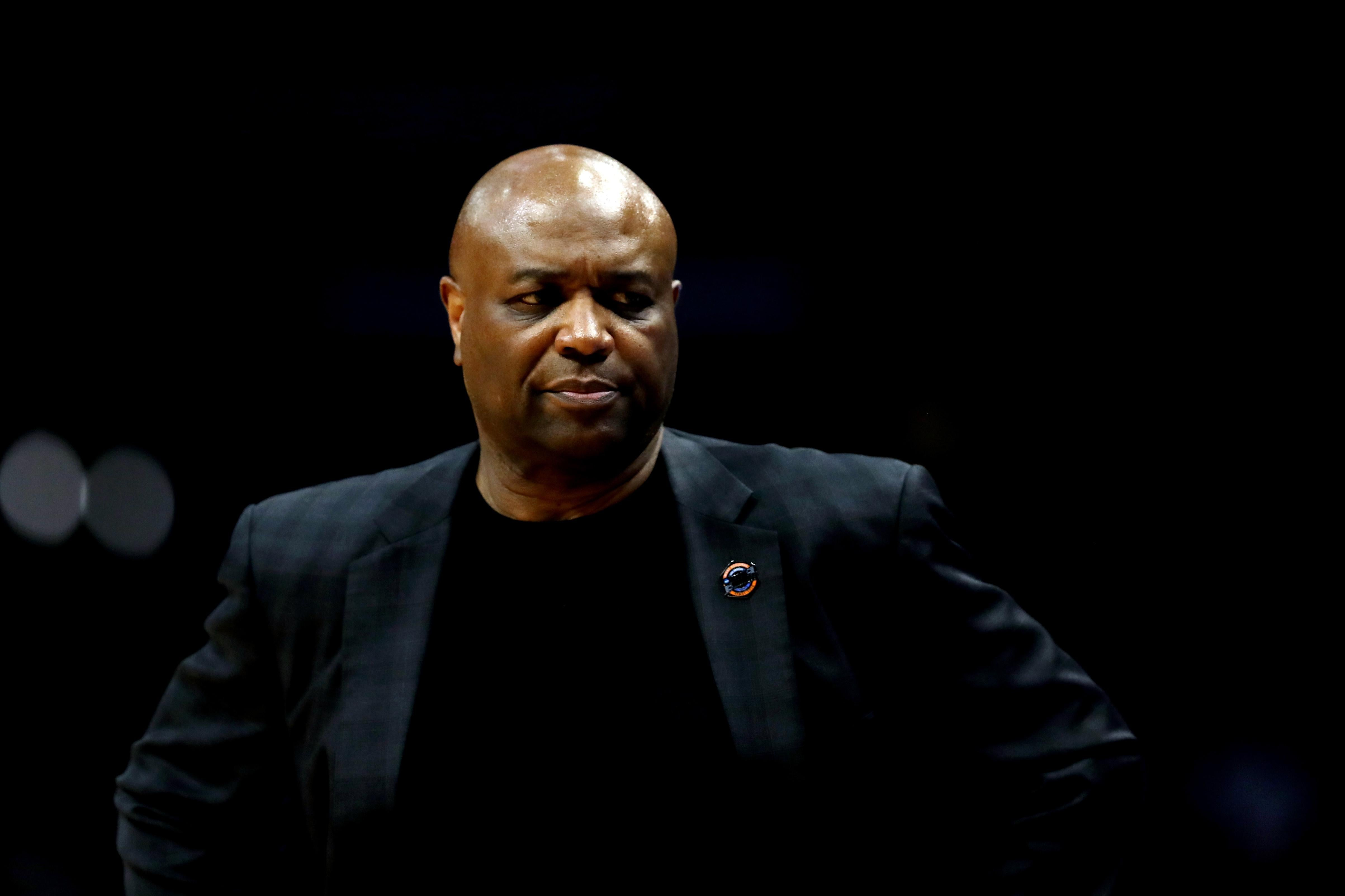 LOS ANGELES, CA - MARCH 24: Head coach Leonard Hamilton of the Florida State Seminoles looks on against the Michigan Wolverines during the second half in the 2018 NCAA Men's Basketball Tournament West Regional Final at Staples Center on March 24, 2018 in Los Angeles, California.  (Photo by Ezra Shaw/Getty Images)