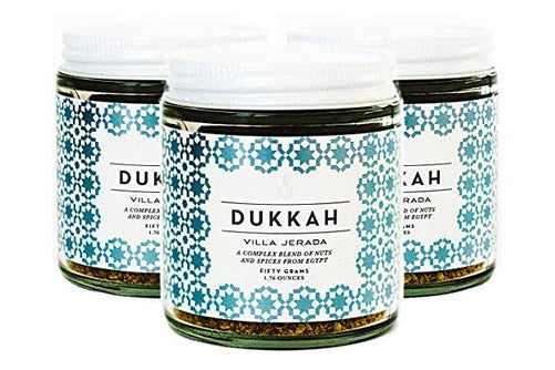 Three jars of dukkah.
