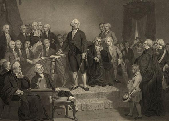 Image result for george washington inauguration