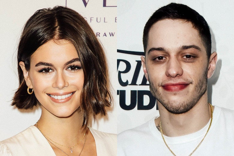 Kaia Gerber and Pete Davidson.