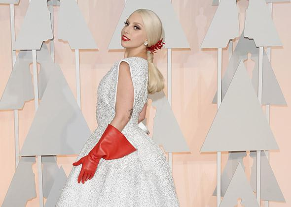 Lady Gaga attends the 87th Annual Academy Awards.