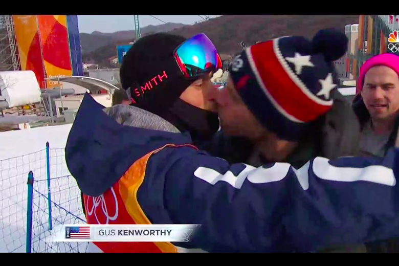 Gus Kenworthy Spent the Last Olympics Closeted. This Time He Kissed His Boyfriend on NBC.
