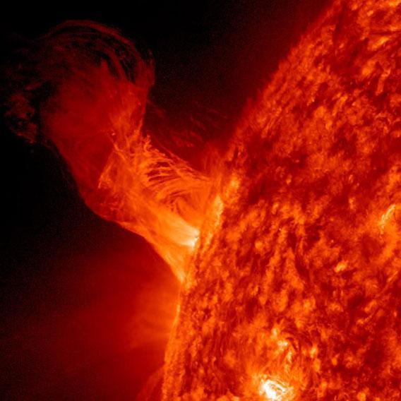 Solar eruption on Dec. 31, 2012
