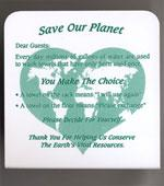 """Save Our Planet"" placard. Click image to expand."