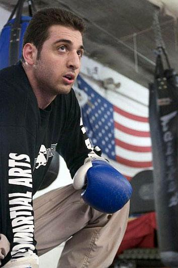 Tamerlan Tsarnaev during his boxing practice