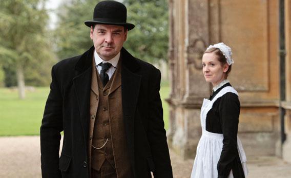 Brendan Coyle as John Bates and Joanne Froggatt as Anna Smith