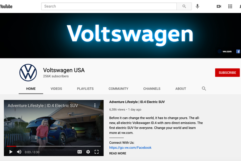 The Voltswagen Youtube page